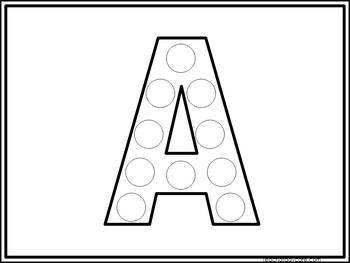 52 Alphabet Do-A-Dots Printable Activity in a ZIP file.Pre