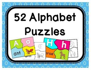 52 Alphabet Puzzles