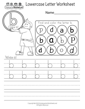 Alphabet Worksheets for Kindergarten (60 Worksheets)