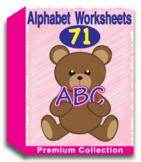 Alphabet Worksheets for Kindergarten (60 Worksheets)
