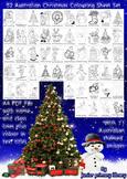 52 Australian Themed Christmas Colouring Sheets Handouts P