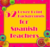 52 Backgrounds for Spanish Teachers