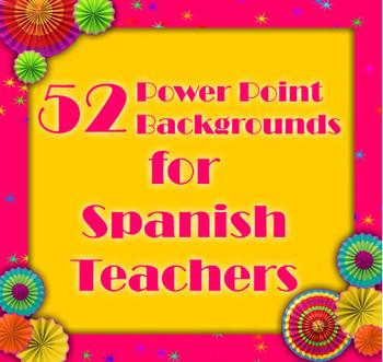 52 Backgrounds for Spanish Teachers