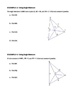 5.2 Bisectors of a Triangle (A)