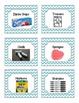 52 Blue Chevron Supplies Labels