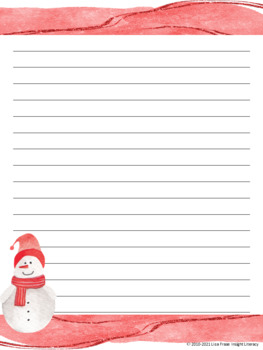 52 christmas story starters creative writing prompts lined paper
