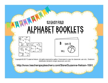 52 Easy Fold Alphabet Booklets