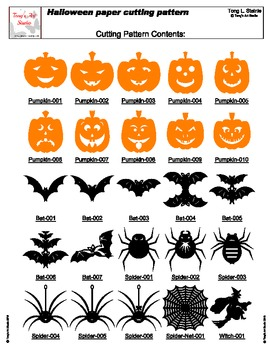 52 Easy Halloween Paper Cutting Patterns By Tong Steinle Tpt