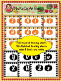 52 Fall inspired alphabet tracing worksheets