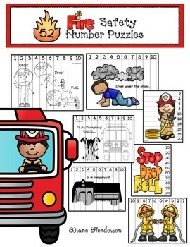 Fire Safety Activities: 52 Fire Safety Number Puzzles