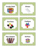 52 Green Chevron Supplies Labels