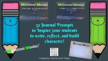 52 Journal Prompts/Bell Ringers