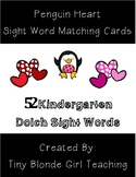 52 Kindergarten Dolch Sight Word Cards (February Penguin Theme)