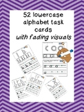 52 LOWERCASE ALPHABET TRACING task cards with fading visua