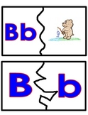 52 Learn to cut two part phonic letter puzzles