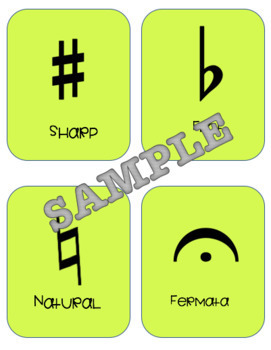 52 Music Notation Cards