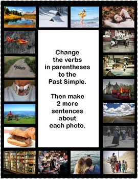 52 PAST SIMPLE SENTENCES - REGULAR AND IRREGULAR