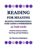 52 Reading Comprehension Task Cards: Reading for Meaning