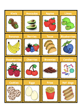 43 (FOOD) Regular Plurals