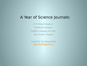 52 Science Journals for the Science Classroom: PowerPoint Edition!