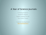 52 Science Journals for the Science Classroom: PowerPoint