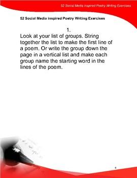 52 Social Media Inspired Poetry Writing Exercises