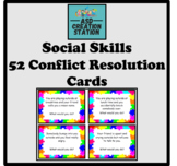 Social skills conflict resolution situation cards x52 (ASD, S&L)