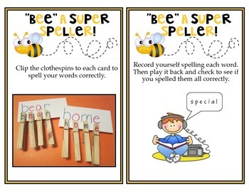 52 Spelling Center Activity Cards
