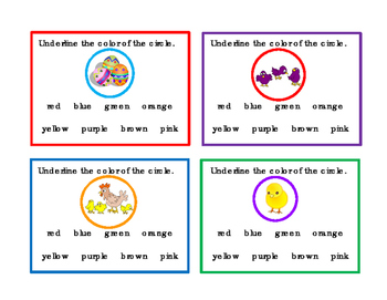 52 Spring Easter Valentines Sports Task-Cards Math Addition Colors Reading Write