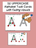 52 UPPERCASE ALPHABET TRACING task cards with fading visua