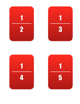 52 Various Fraction Cards