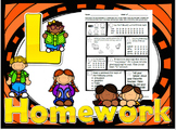52 Weekly /l/ Homework Printable Worksheets - speech therapy, 5 min kids