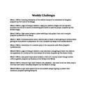 52 Weeks of Writing Challenges
