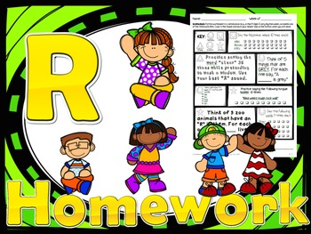 52 Weekly /r/ Homework Printables (354 act.) - Speech Therapy, 5 Minute Kids