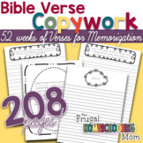 52 weeks of Bible Verse Copywork Pages for the Whole Famil