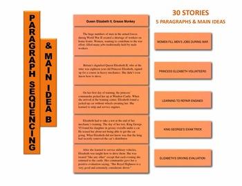 Paragraph Sequencing & Main Idea B Manipulatives