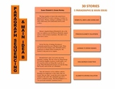 Paragraph Sequencing & Main Idea B Manipulatives