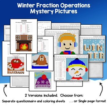 Winter Fraction Operations Bundle