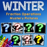 Mystery Picture Winter Fraction Operation Project, Coloring Pages For December