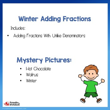 Winter Adding Fractions With Unlike Denominators