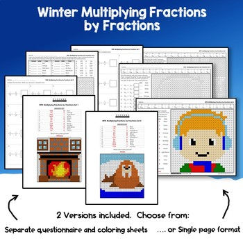 Winter Multiplying Fractions by Fractions