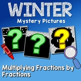 Challenge Activity Multiplying Fractions Winter Coloring Page Mystery Picture