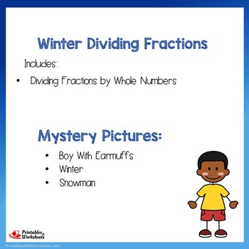 Winter Dividing Fractions by Whole Numbers