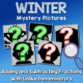 Winter Adding And Subtracting Fractions With Unlike Denominators Worksheets
