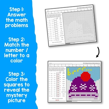 Winter Multiplying and Dividing Fractions by Whole Numbers