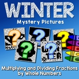 Math Winter Multiplying And Dividing Fractions Project, Mystery Picture Pages