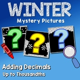 Adding Decimals To The Thousandths, Winter Coloring Mystery Pictures