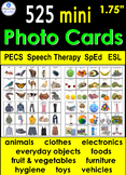 "525 Mini Photo Vocabulary Cards 1.75"" - PECS Speech Therapy Autism SpEd ESL"