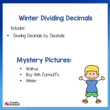 Winter Dividing Decimals by Decimals