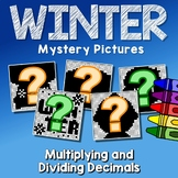 Winter Multiplying And Dividing Decimals Project, Color By Number Code Sheets